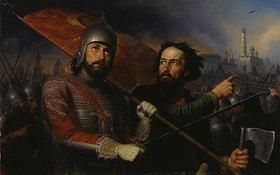 Mikhail Iwanowitsch Skotti: Kusma Minin und Prinz Dmitrij Pozharsk (1578-1642)