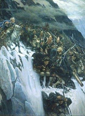 Wassilij Iwanowitsch Surikow: Suworow überquert die Alpen