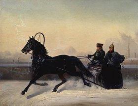 Nikolai Jegorow Sswertschkov: Zar Nikolaus I. bei der Schlittenfahrt