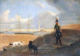 Grigorij G Tschernezoff: Zar Alexander I. am Ufer der Newa