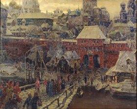 Apolinarij Wasnezow: Moskau im 17. Jahrhundert. Die Moskworetzki-Brücke und das Wassertor