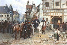 Bogdan Willewalde: General Blücher mit den Kosaken in Bautzen