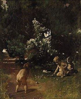 Anselm Feuerbach: Boccia spielende Kinder