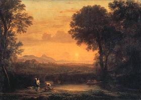 Claude Lorrain (Gellée): Der Abend (Hagar und Ismael)