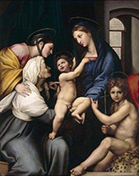 Raffael (Raffaello Sanzio): Die Madonna mit dem Fensterrahmen
