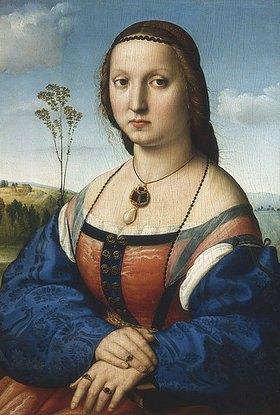 Raffael (Raffaello Sanzio): Bildnis der Maddalena Doni