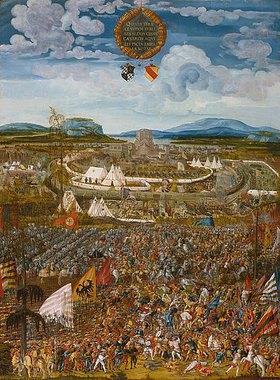 Melchior Feselen: Belagerung der Stadt Alesia (52 v. Chr. C. Julius Caesar gegen Vercingetorix)