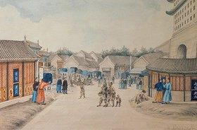 Iwan Alexandrow: Die Tsian-Minh-Brücke (chinesische Zeichnung)