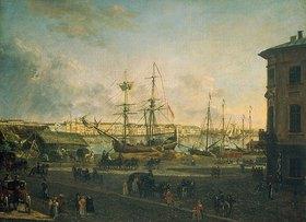 Fjodor Jakowlewitsch Aleksejew: Blick von der Wassiliewski-Insel zum Englischen Kai, St.Petersburg