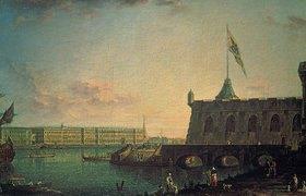 Fjodor Jakowlewitsch Aleksejew: Die St. Peter-und-Paul-Festung und der Palast-Kai, St. Petersburg