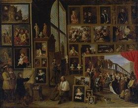 David Teniers: Ansicht der Galerie des Erherzogs Leopold Wilhelm in Brüssel (I.)