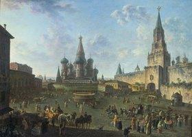 Fjodor Jakowlewitsch Aleksejew: Der Rote Platz in Moskau im 18. Jahrhundert