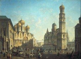 Fjodor Jakowlewitsch Aleksejew: Der Kathedralen-Platz im Moskauer Kreml