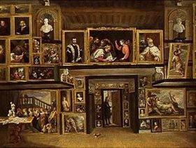 David Teniers: Ansicht der Galerie des Erzherzogs Leopold in Brüssel (III). Lwd.,95x126cm