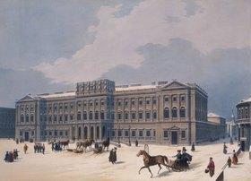 Jules Arnout: Der Palast des Grossherzogs von Leuchtemberg in St. Petersburg. 1840-er Jahre