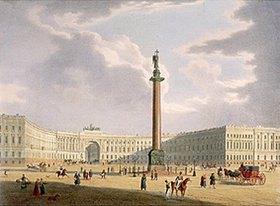Jules Arnout: Die Alexander-Säule und das Armee-Hauptquartier in St. Petersburg, 1840-er Jahre