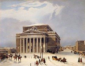 Jules Arnout: Das Bolschoi-Theater in Moskau. 1840-er Jahre