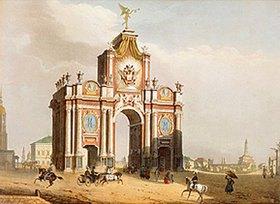 Jules Arnout: Das Rote Tor in Moskau. 1830-er Jahre
