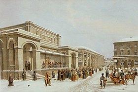 Jules Arnout: Die neue Börse und die Arkade in Moskau. 1830-er Jahre