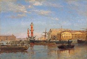 Alexander Beggroff: Blick über die Newa auf St. Petersburg