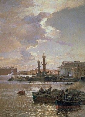 Alexander Beggroff: Blick zur Börse in St. Petersburg