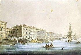 Karl Petrowitsch Beggrow: Blick auf das Palast-Ufer in St. Petersburg