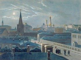 Louis P. Alphonse Bichebois: Ansicht des Moskauer Kreml. 1840-er Jahre