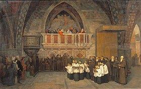 Mikhail Botkin: Vesper-Szene in der Franziskus-Kirche in Assisi