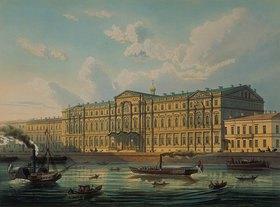 J Charlemagne: Der Palast des Grossfürsten Mikhail und das Palast-Ufer. 1850-er Jahre