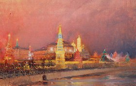 Nikolaj Grizenko: Der beleuchtete Kreml in Mosk