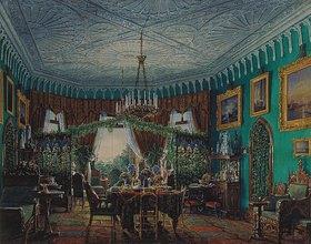 Edouard Hau: Der Ankleideraum der Zarin Alexandra im Landhaus von Peterhof. 1850-er Jahre