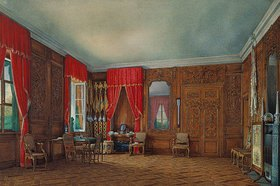 Edouard Hau: Das Eichenzimmer vorn Zar Peter I. (dem Grossen) im grossen Palast von Peterhof