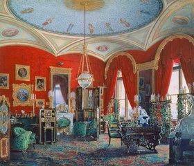 Edouard Hau: Das Studio der Zarin Maria Alexandrowna im Winterpalast in St. Petersburg