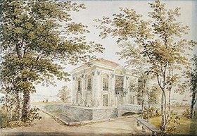 Jegor Jegorowitsch Meier: Der Pavillon in der Eremitage von Schloss Peterhof. 1850-er Jahre