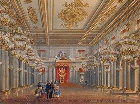 Wassily Sadovnikov: Die St.Georgs Thronhalle im Winterpalast in St.Petersburg