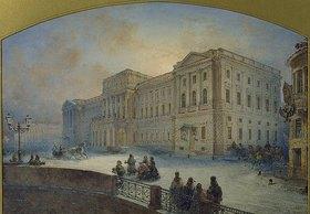 Wassily Sadovnikov: Der Marjinskij-Palast im Winter