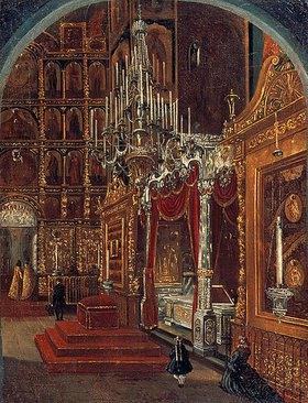 Stepan Sschuwostov: Inneres der Maria-Himmelfahrt-Kathedrale in Jaroslawl