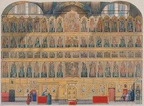 Fjodor Grigorjewitsch Solnzev: Die Ikonostase der Maria-Himmelfahrt-Kathedrale im Moskauer Kreml