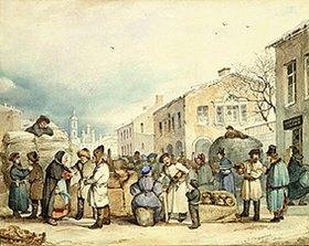 Wassilij Sternberg: Heumarkt in St.Petersburg