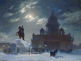 Wassilij Iwanowitsch Surikow: St.Petersburg im Winter. Das Denkmal Peters des Grossen