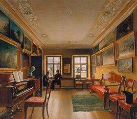 Alexej Wassiljew Tyranoff: Inneres eines russischen Landhauses. 1820-er Jahre