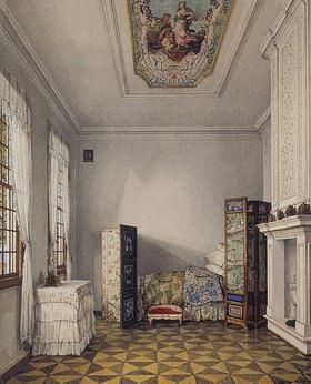 Konstantin Ukhtomsky: Schlafzimmer Zar Peters I. im Palast Monplaisir in Peterhof