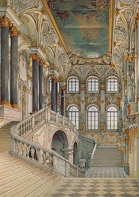 Konstantin Ukhtomsky: Treppenhaus im Winterpalast von St. Petersburg