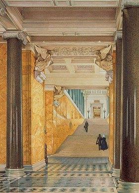 Konstantin Ukhtomsky: Die Eingangshalle zum Winterpalast in St.Petersburg
