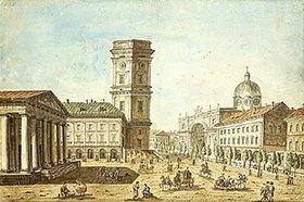 Timofej Wassiljew: Der Newskij-Prospekt in St.Petersburg. 1810-er Jahre