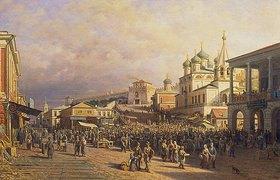 Petr Werestschagin: Markt in Nischni-Nowgorod