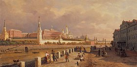 Petr Werestschagin: Der Kreml in Moskau, gesehen vom Sofien-Ufer