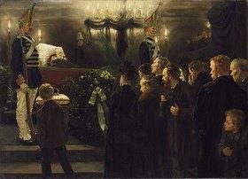 Arthur Kampf: Aufbahrung der Leiche Kaiser Wilhelms I. im Dom zu Berlin am