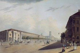 E.I Jessakov: Gostinij Dvor (Einkaufs-Arkaden) in St.Petersburg. 1820-er Jahre