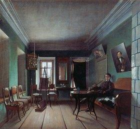 Grigorij Wassiljew Jurov: Interieur im Bykov-Haus. 1850-er Jahre